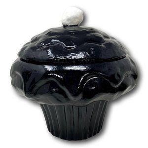 Oversized Ceramic Cupcake Cookie Jar - Decor Only